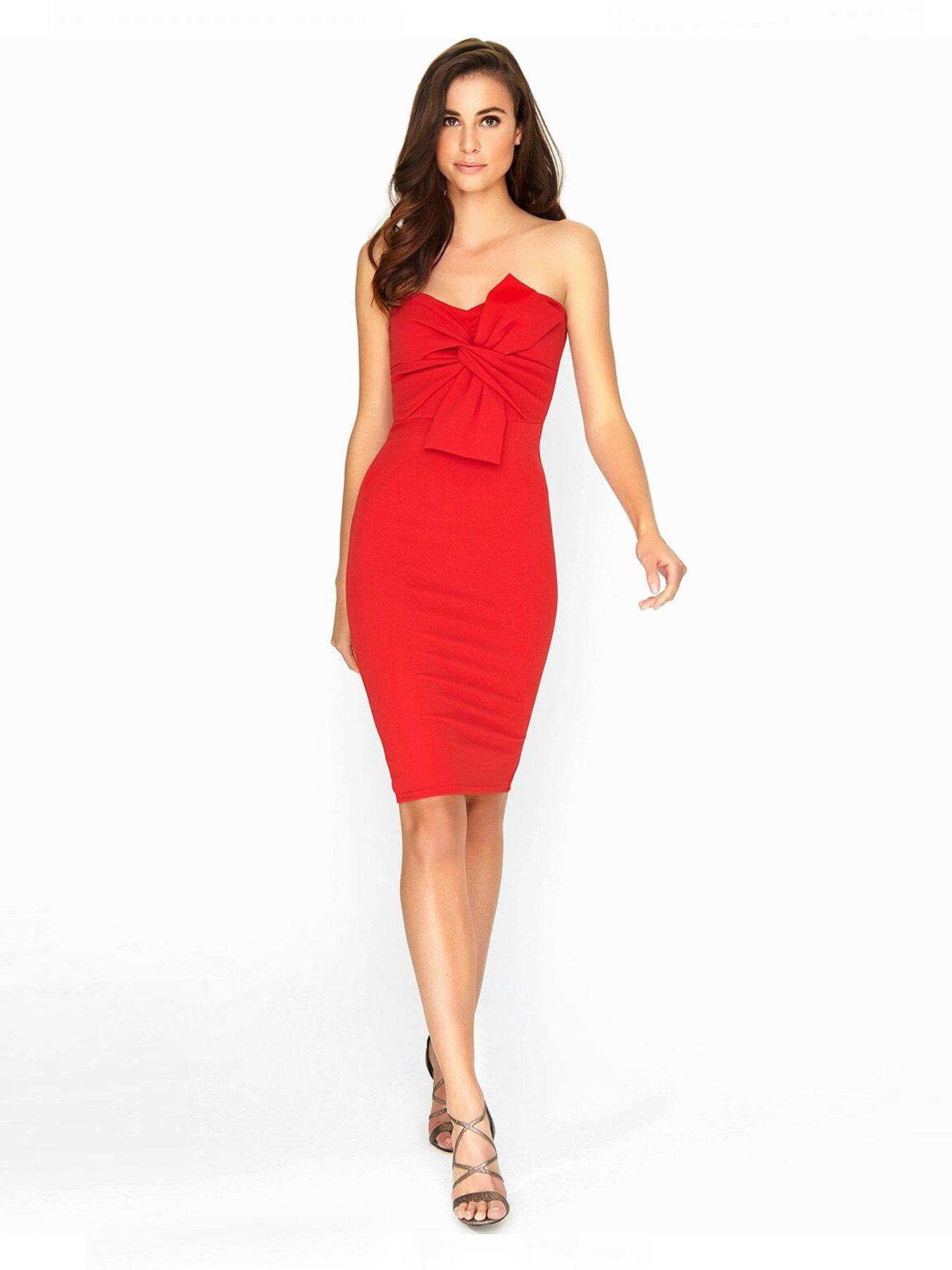 SHARRON: Red boob tube dresses