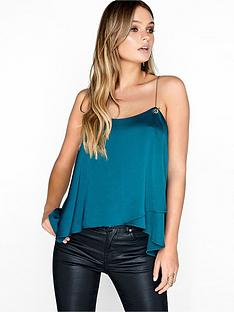 girls-on-film-gold-chain-strap-cami-top-emerald-green