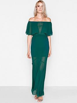 Girls On Film Girls On Film Emerald Green Bardot Maxi Dress