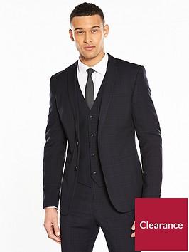 v-by-very-slim-check-suit-jacket-navynbsp
