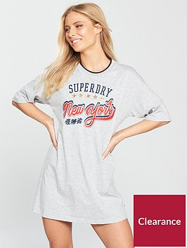 superdry-slim-t-shirt-dress-pacific-grey-marl