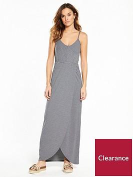 superdry-stripe-wrap-dress-navywhite