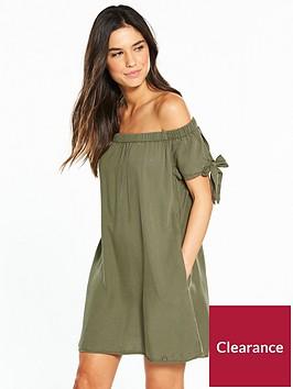 superdry-alexia-off-shoulder-dress-khaki
