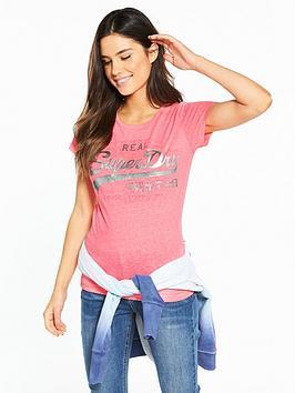 superdry-vintage-logo-embossed-foil-t-shirt-fluoro-pink-snowy