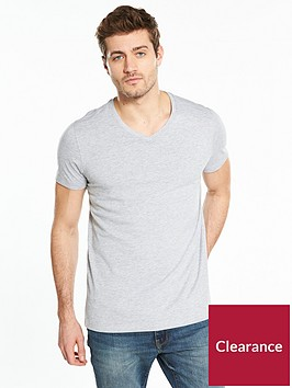 v-by-very-mens-short-sleeve-v-neck-tee-grey-marl