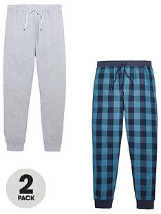 v-by-very-2-pk-cuffed-bottoms-grey-jersey-amp-blue-check-woven