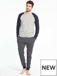 v-by-very-ls-raglan-pj-top-amp-ticking-stripe-trousers