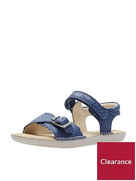 clarks-girls-ivy-blossom-junior-sandals-blue