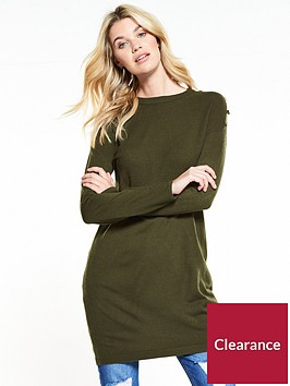 v-by-very-ripple-stitch-button-detail-tunic-khaki