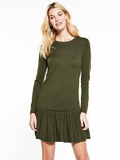 v-by-very-ruffle-hem-swing-knitted-dress