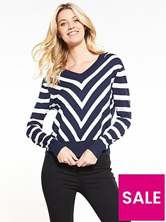 v-by-very-diagonal-stripe-v-neck-front-and-back-jumper-navywhite
