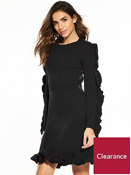 v-by-very-ruffle-sleeve-rib-knitted-dress-dress