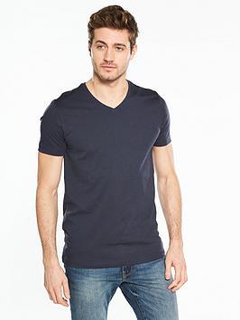 v-by-very-short-sleeve-v-neck-t-shirt-navy
