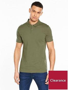 v-by-very-short-sleeve-jersey-polo-khaki