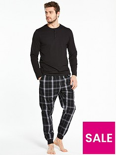 v-by-very-long-sleeve-top-and-woven-bottom-pj-set