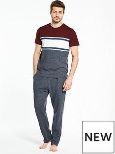 v-by-very-pj-set-ss-colour-block-t-amp-open-hem-jersey-bottoms