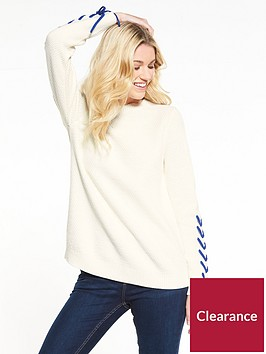 v-by-very-lace-up-sleeve-textured-knit-jumper-ivory
