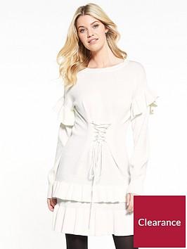 v-by-very-frill-hem-and-sleeve-corset-waist-dress