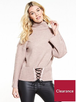 v-by-very-corset-hem-roll-neck-jumper-mink