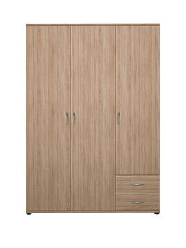 madrid-3-door-2-drawer-robe