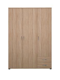Madrid 3 Door, 2 Drawer Wardrobe