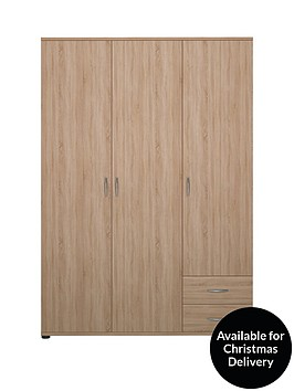 madrid-3-door-2-drawer-wardrobe