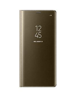 samsung-note-8-clear-view-standing-cover-gold