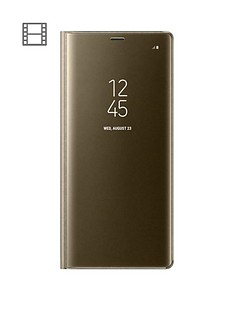 samsung-note-8-clear-view-standing-cover-goldnbsp