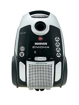 Hoover Enigma Pets Te70/En21 Bagged Cylinder Vacuum Cleaner - Silver/Black