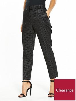 wallis-petite-geometric-metallic-jacquard-trouser