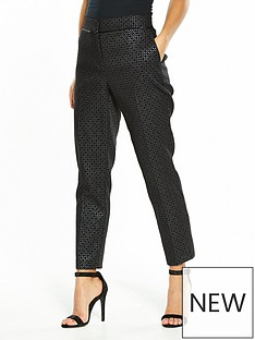 wallis-wallis-petite-geo-metallic-jacquard-trouser