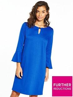 wallis-petite-ponte-flute-sleeve-dress
