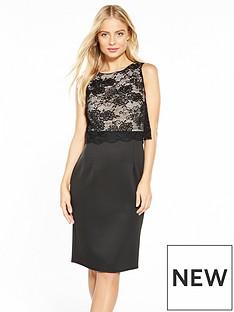 wallis-wallis-swirl-lace-top-scuba-dress