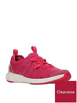 clarks-luminous-glonbspgirls-trainers-raspberry