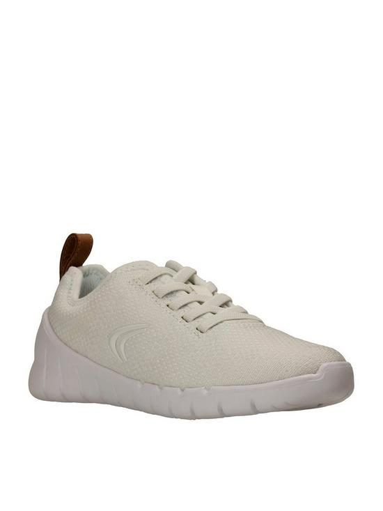 2658a56d5bd0 Clarks Sprint Flux Girls Trainers - White