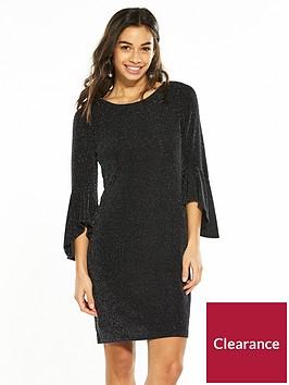 wallis-petite-sparkle-flute-sleeve-dress