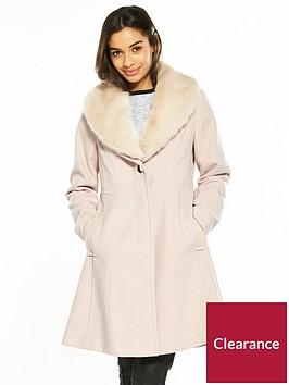 wallis-petite-fit-and-flare-coat