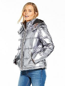 miss-selfridge-metallic-padded-jacket