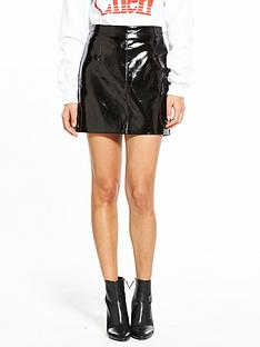 miss-selfridge-vinyl-mini-skirt-black