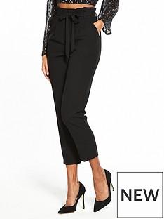 miss-selfridge-black-high-waisted-skinny-tailored-trouser-black