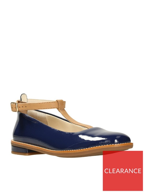 fe23a88d2f9b Clarks Darcy Blush Girls Shoes - Navy