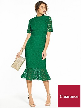 v-by-very-lace-high-neck-bodycon-flippy-hem-dress-emerald-green