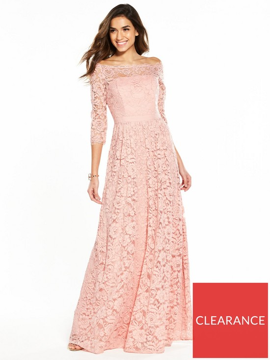 cc115e66670 V by Very Bridesmaid Lace Maxi Dress - Blush Pink