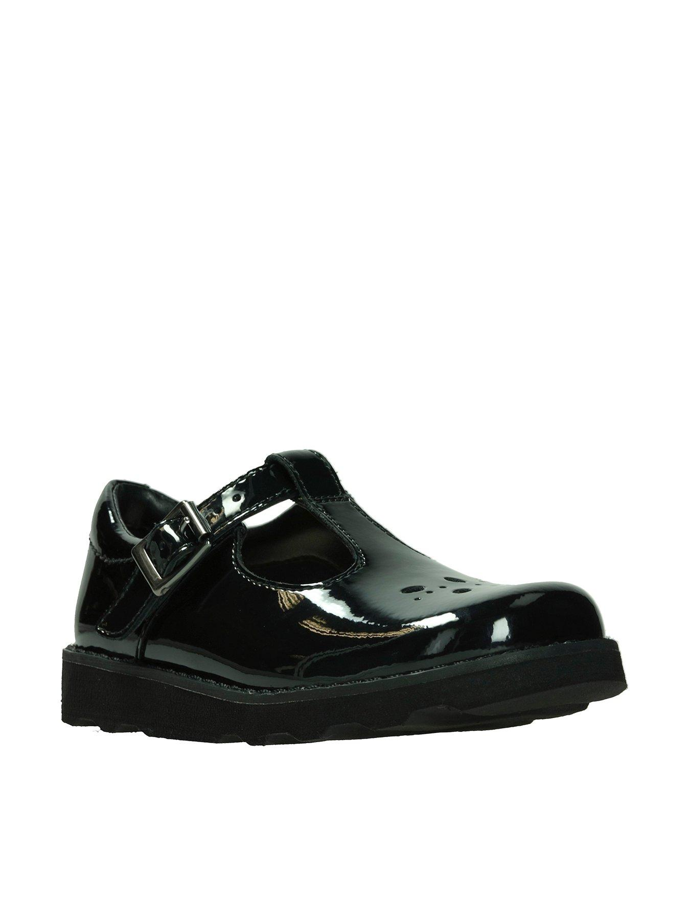 Clarks Girls Classic T-Bar Shoes Crown Wish