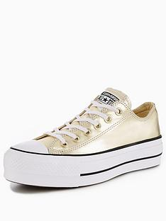 e1308fb6a790 Converse Chuck Taylor All Star Lift Platform Ox - Gold
