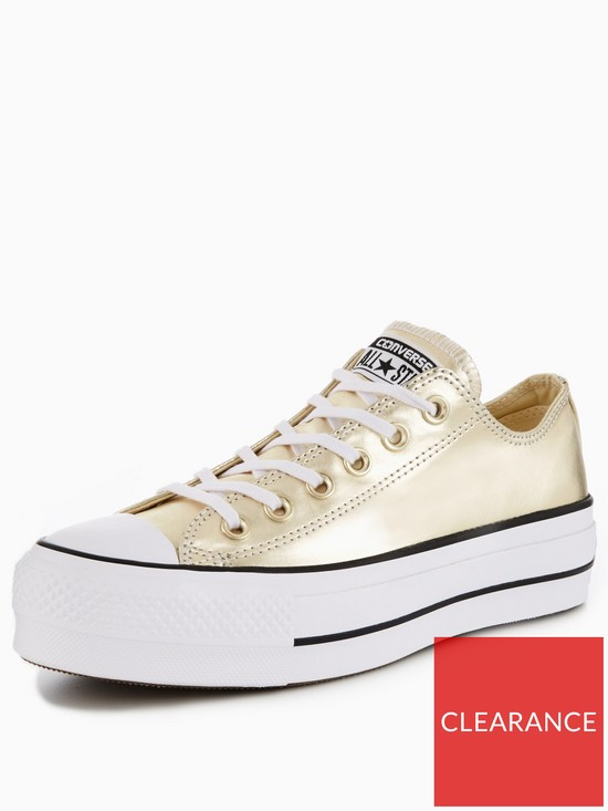 c8b8a9028ec Converse Chuck Taylor All Star Lift Platform Ox - Gold | very.co.uk