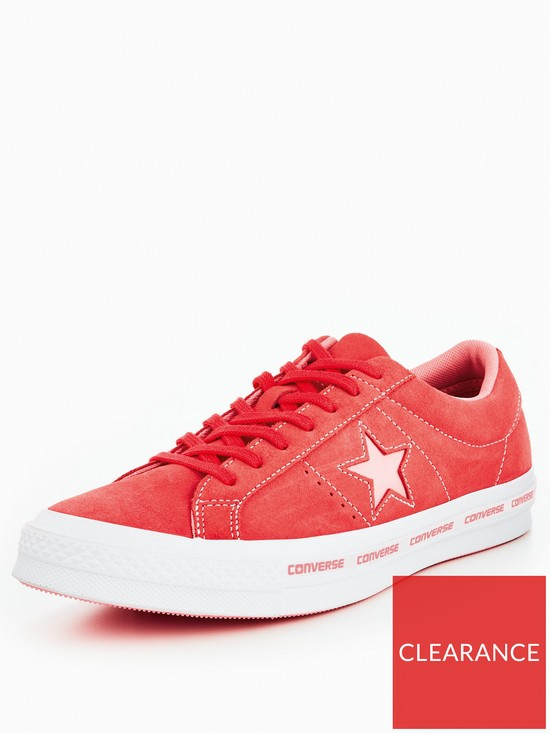 e90c3667765f Converse One Star Ox Wordmark - Bright Pink