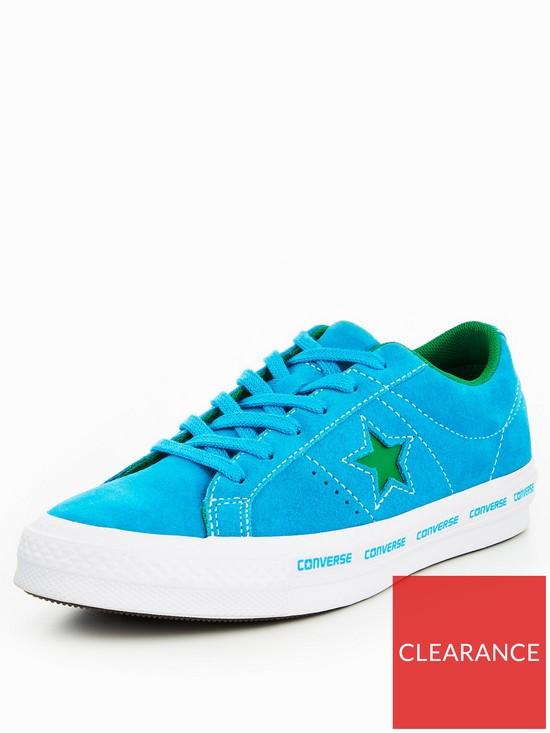 10209c955b37 Converse One Star Ox Wordmark - Bright Blue
