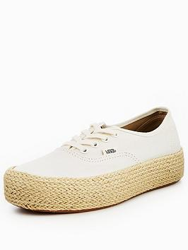 Vans Authentic Platform Espadrilles - Off White