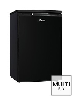 swan-sr70200b-55cmnbspwide-under-counter-larder-fridge-black